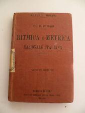 Manuali Hoepli Murari Ritmica e metrica Razionale italiana 1927