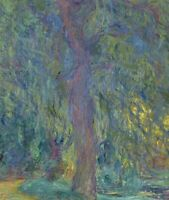 Weeping Willow Claude Monet Painting Print Canvas Reproduction Wall Art Small