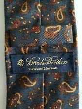 Brooks Brothers Makers Blue Red Paisley Mens Silk Neck Tie NWT NEW