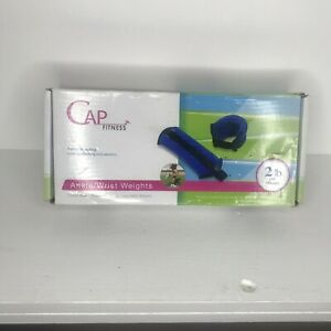 Cap Fitness Set Ankle/Wrist Weights  (2) 1 lbs weight stretch bands Attached