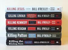 Lot 6 Bill O'Reilly Books (HC) Killing Jesus, Lincoln, Kennedy, Reagan, Patton