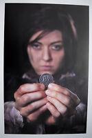 Arya Stark poster, Iron coin of the Faceless Man, A Game of Thrones, Morghulis