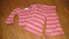 BOUTIQUE LUNA LUNA COPENHAGEN 6M 6 MONTHS STRIPED TOP PANT SET