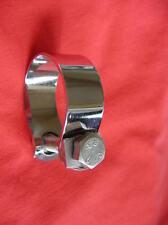 """CHROME EXHAUST CLIP 1 3/8"""" clamp BSA Triumph AJS ARIEL"""