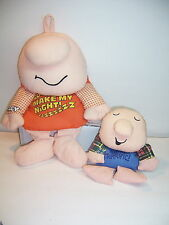 "ZIGGY - PLUSH - LARGE 14"" MAKE MY NIGHT ZZZZ AND SMALL 8"" YOUR TERRIFIC - LOT VG"