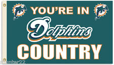 Miami Dolphins Huge 3' x 5' Nfl Licensed Country Flag