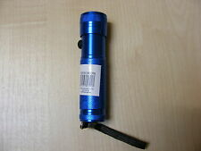 SMALL POWERFUL 12 LED ALUMINIUM TORCH FLASH LIGHT CAMPING HOME CAR GARDEN - BLUE