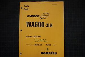 KOMATSU WA600-3LK WHEEL LOADER Parts Manual Book Catalog spare 2002 shop list
