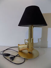 LAMPE DESIGN DESERT EAGLE or (chevet bureau table militaire luxe arme lamp Light