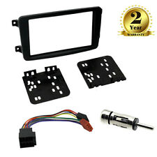 2 Din Car Stereo Fitting Kit Fascia Wiring ISO For Mercedes C Class W203 00-04