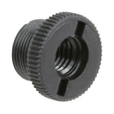 """Black Plastic 5/8"""" M-3/8"""" F Mic Screw Thread Adapter for Mic Microphone Stand"""