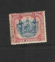 NORTH BORNEO 1897 24c  BLUE- & LAKE (SG 109)  FINE USED