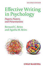 NEW Effective Writing in Psychology: Papers, Posters,and Presentations