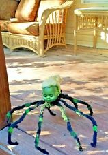 Hanging Haunted house prop doll halloween creepy horror zombie head spider huge