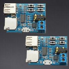 2Pcs TF card U disk MP3 Decoder Board Amplifier Decoding Audio Player Module