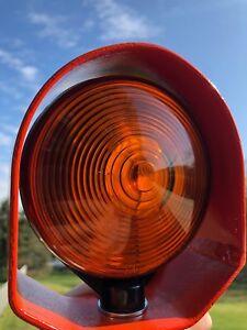 "4"" Round LED Pedestal Light Turn Signal Protector"