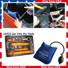 13pcs Car Door Clip Dash Panel Trim Kit pump Wedge Bag Audio Removal Pry Tool