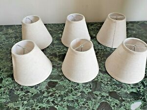 Set of six candle clip chandelier shades