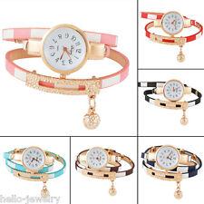 Damen Armbanduhr Uhr Quarzuhr Wickelarmband Analog Strass Farbe 56.5cm M15208