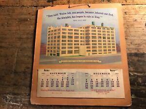 Watchtower 1951 Calendar Jehovah's Witnesses ORIGINAL CALENDAR!! VERY NICE!!