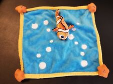 Doudou Plat poisson bleu bulle NEMO DISNEY étoiles orange jaune état neuf