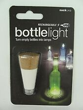 Rechargeable USB Bottle White Light Cork by Official Suck UK Reusable Home Decor