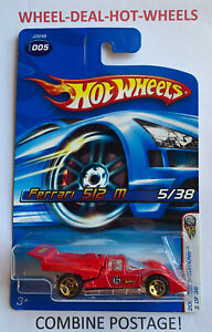 HOT WHEELS 2006 FIRST EDITION FERRARI 512M RED VR COLLECTABLE MOC!