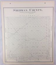 Antique General Land Office Map Sherman County Texas Showing Plats ++
