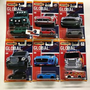 6 Car Set * 2021 Matchbox GLOBAL UK Series * Case A