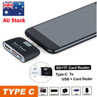 Type-C USB C to USB 2.0 Hub SD/MicroSD Card Reader Adapter