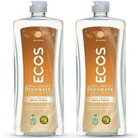 Earth Friendly Products ECOS Dishmate Dish Liquid, Almond 25 oz. (Pack of 2)