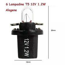 6 Lampadine T5 12v 1.2w Per Cruscotto Quadro Strumenti manopole clima manuale