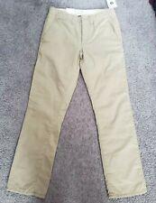 Gap lined Khakis Boy's Size 12r Nwt flat front School dress code uniform wear