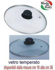 Zanetti coperchio vetro temperato padella casseruola pentola tegame da 16 a 38cm