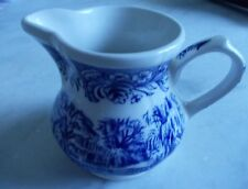 "Vintage Currier & Ives Churchill England ""mill dam"" transferware Creamer"