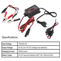 Car Motorcycle ATV 6/12V Battery Trickle Charger Maintainer for Sealed Lead Acid