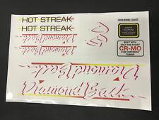 Diamondback Hot Streak 1986 Decals Sticker Set Suit Your Old School BMX