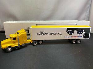 Ertl Jim Beam Dark Eyes Vodka Kenworth Cab Tractor Truck w Trailer 1/64 Diecast