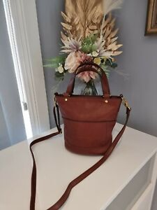 Fossil Leather Mini Crossbody Bag. EXTREMELY RARE. Perfect Condition.