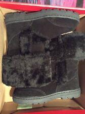 genuine suede boots Black Size 7