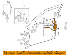 TOYOTA OEM 98-02 Corolla Front Door-Lock Latch Kit 6932002060