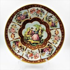 Vintage 1971 Daher Decorated Ware Round Tin Bowl Tray England Victorian Scene