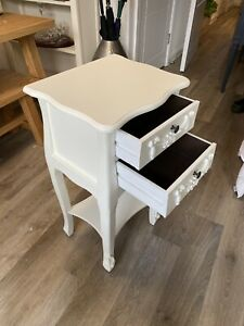 Dunelm Vintage White Bedside Table - Collection Only KT12