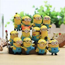 Lot de 12 figurines action Minions Collections Despicable Me 3-5 cm figure pvc