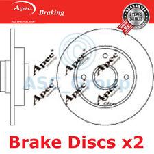 2 X Apec BRAKING 249mm Solide Original Qualität Ersatz Bremsscheiben (