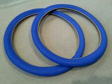 TWO(2) DURO 26X2.125 BEACH CRUISER BICYCLE TIRES SMALL BRICK PATTERN BLUE