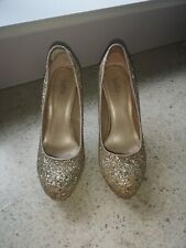 Gold sparkly heels size 7