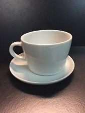 Kahla FIVE SENSES 6x Cafe Au Lait Tasse m. Unterteller 0,45 Ltr. Neu Weiß 2.Wahl