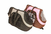 Soft carrier Dog carrier  Small Pet dog cat Carrier Case in PINK / BROWN