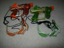 LAZER TAG GUNS, 2pc HUD GOGGLES, & CABLES TIGER  WORKS GREAT! Laser Tag